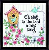 Tobin 14 Count Heartfelt a New Song Counted Cross Stitch Kit, 10 by 10-Inch