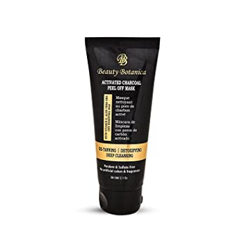 Beauty Botanica Activated Charcoal Peel-Off Mask With Aloe Vera Gel, Vitamin E,
