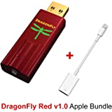 AudioQuest Apple Bundle for DragonFly Red USB DAC, Preamp, Headphone Amp and Apple Lightning to USB Camera Adapter