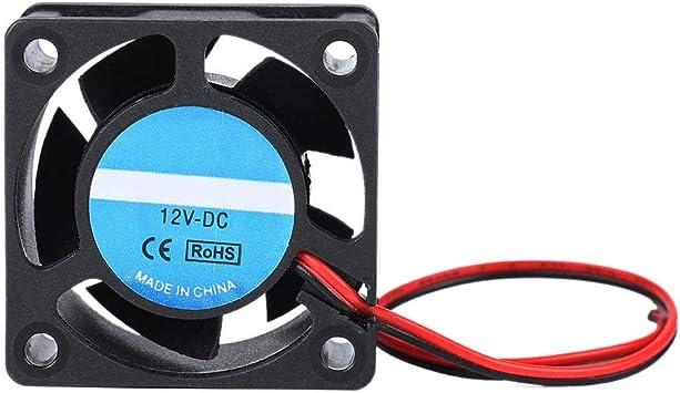 Pokerty Ventilador de la Caja de enfriamiento, 40x40x19mm DC 12V ...