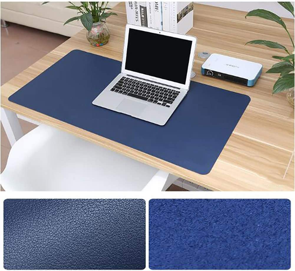 Gray 120x60cm Pu Leather Desk Blotter Office Desk Mat Writing Gaming Mouse Pad with Comfortable Writing Surface Waterproof-Mint Green 47x24inch