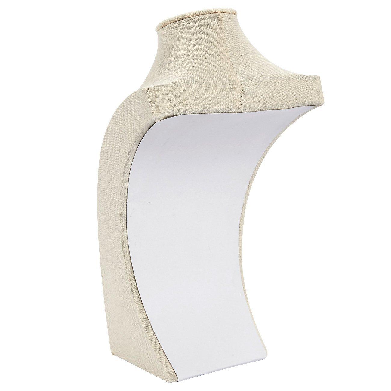 Amazon.com: Soporte de madera de lino para joyería – Soporte ...