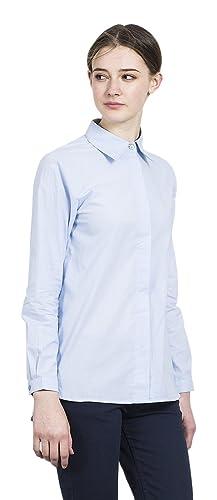 Compañia Fantastica Backgammon Blue Shirt, Blusa para Mujer