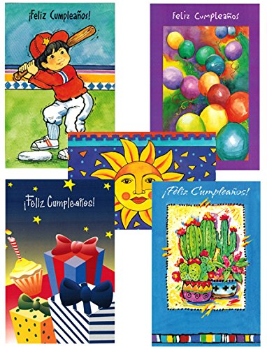 - Spanish Birthday Cards Assorted (10 Cards)(Set 3)