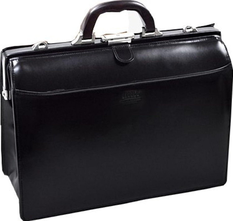 ダレスバッグ 本革 メンズ A4 豊岡製鞄 日本製 口枠 ビジネスバッグ B075W6VTGV01-黒