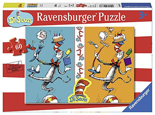 Ravensburger Dr. Seuss - See a Difference? 60 Piece Jigsaw Puzzle for Kids – Every Piece is Unique, Pieces Fit Together Perfectly