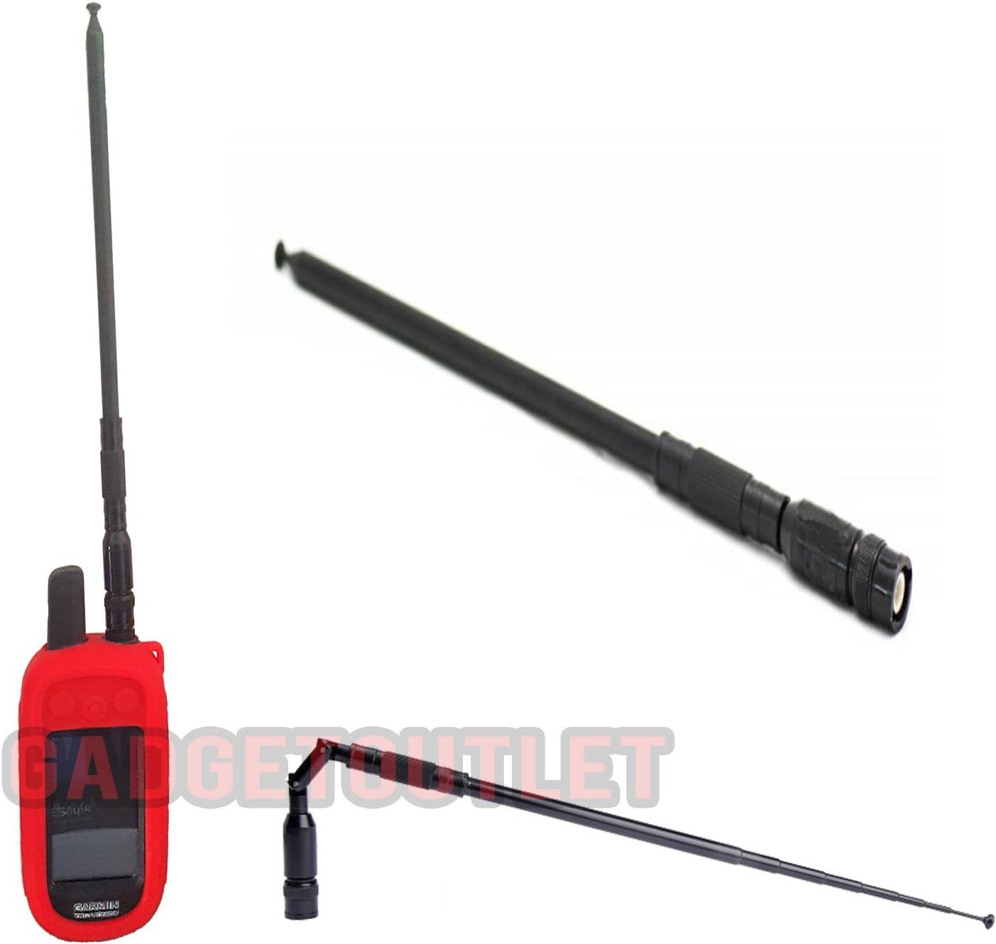 Super Long Range 123 cm plegable telesc/ópico Antena Negro compatible para Garmin Astro y alpha