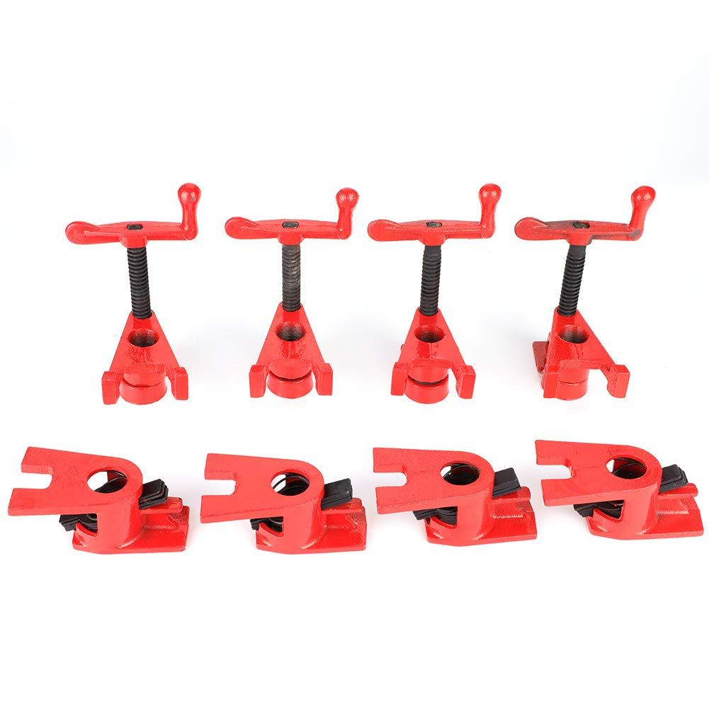 4 juegos Abrazaderas de carpinter/ía de alta resistencia de liberaci/ón r/ápida de 3//4  Abrazadera de sujeci/ón mini Abrazaderas de base ancha Abr Abrazadera de palanca de palanca de herramienta manual