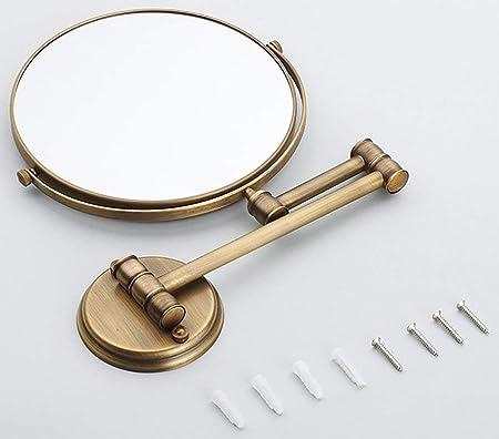 NAERFB Espejo de Maquillaje Extensible,antigüedades Europeas Tocador de Baño Baño Plegable Espejo Lupa Báscula de baño y Espejo de Belleza: Amazon.es: Hogar