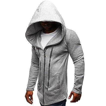 Amazon.com: WM & MW Novelty Mens Outerwear Fashion Casual Long Sleeve Zipper Hooded Jacket Sweatshirt Hoodie Coat: Clothing