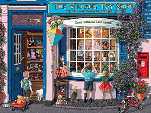 White Mountain Puzzles Village Toy Shop - 1000 Piece Jigsaw Puzzle