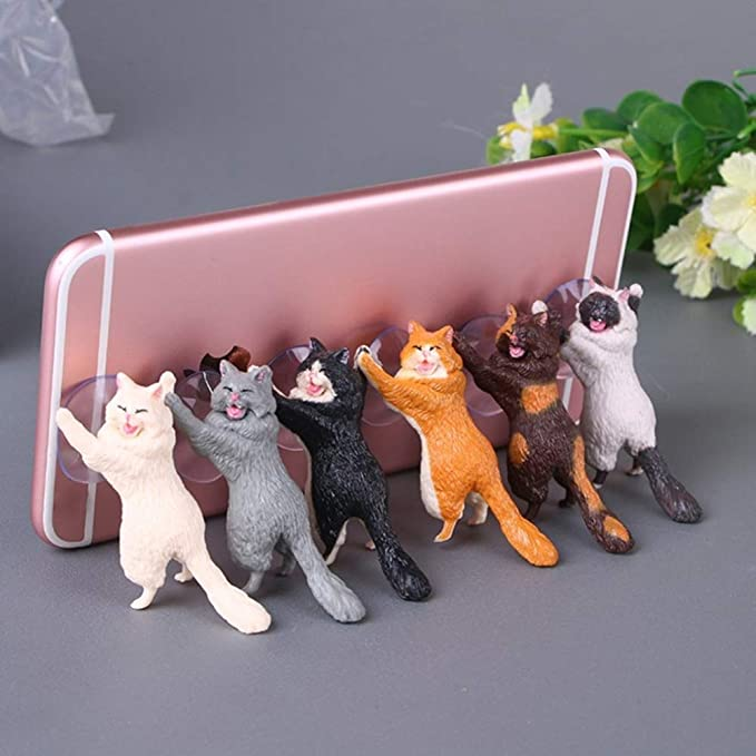 6 Pack Different Cats Smart Phone Sucker Holder