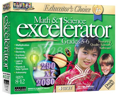 Educator's Choice Math & Science Excelerator Grades 3-6 by Topics Entertainment