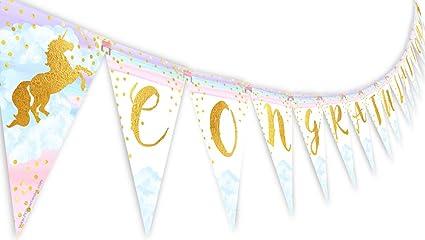 amazon com pop parties magical unicorn rainbow congratulations