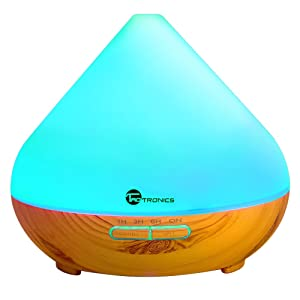 TaoTronics 300 ml Essential Oil Diffuser with Cool Mist and 7 Colors