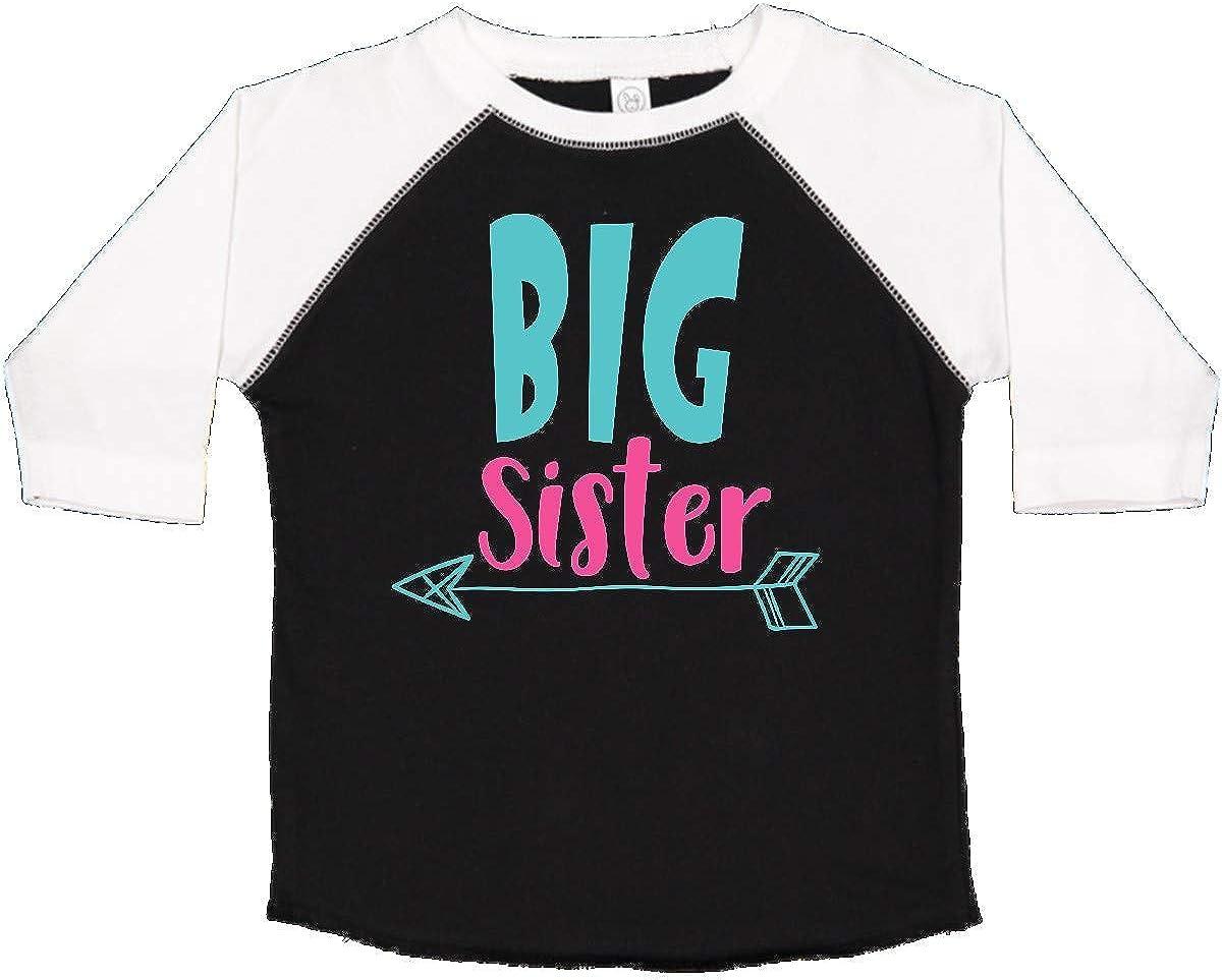 Blue Pink Toddler T-Shirt inktastic Big Sister Older Sister Arrow
