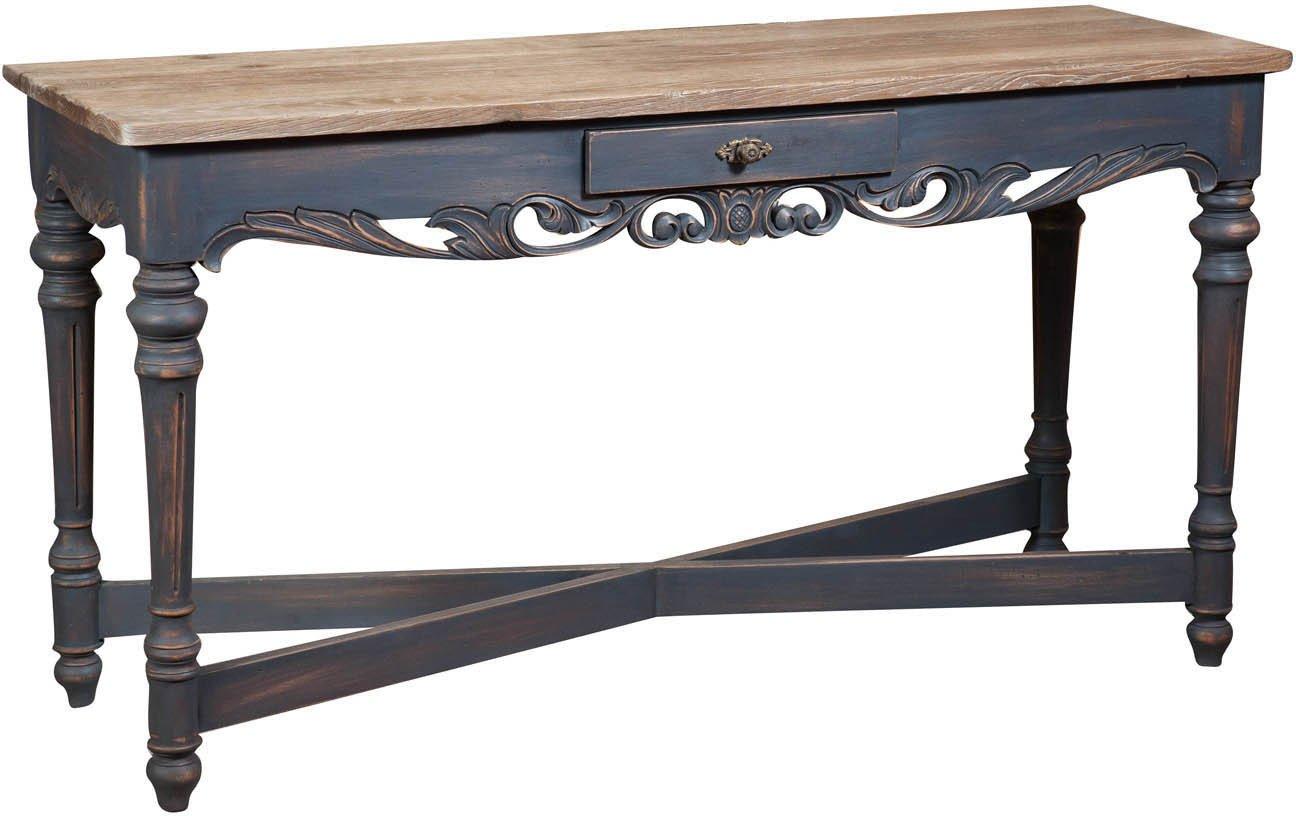Tisch aus massiver Eiche Konsole 150 x 50 x 80 CM