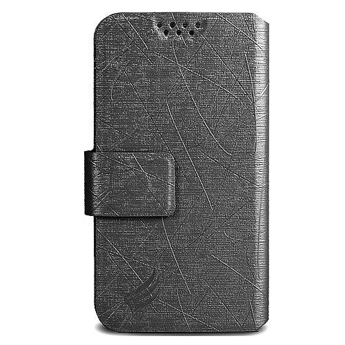 Vivo XL3 Plus Leather Pouch, HJ Power[TM] For BLU Vivo XL3 Plus (Unlocked)-PFC Leather PU Flip Case Black