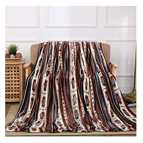 All American Collection New Super Soft Printed Throw Blanket (Throw Size, Coffee Southwest)