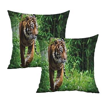 Amazon.com: Khaki home Tiger Square Travel Pillowcase ...