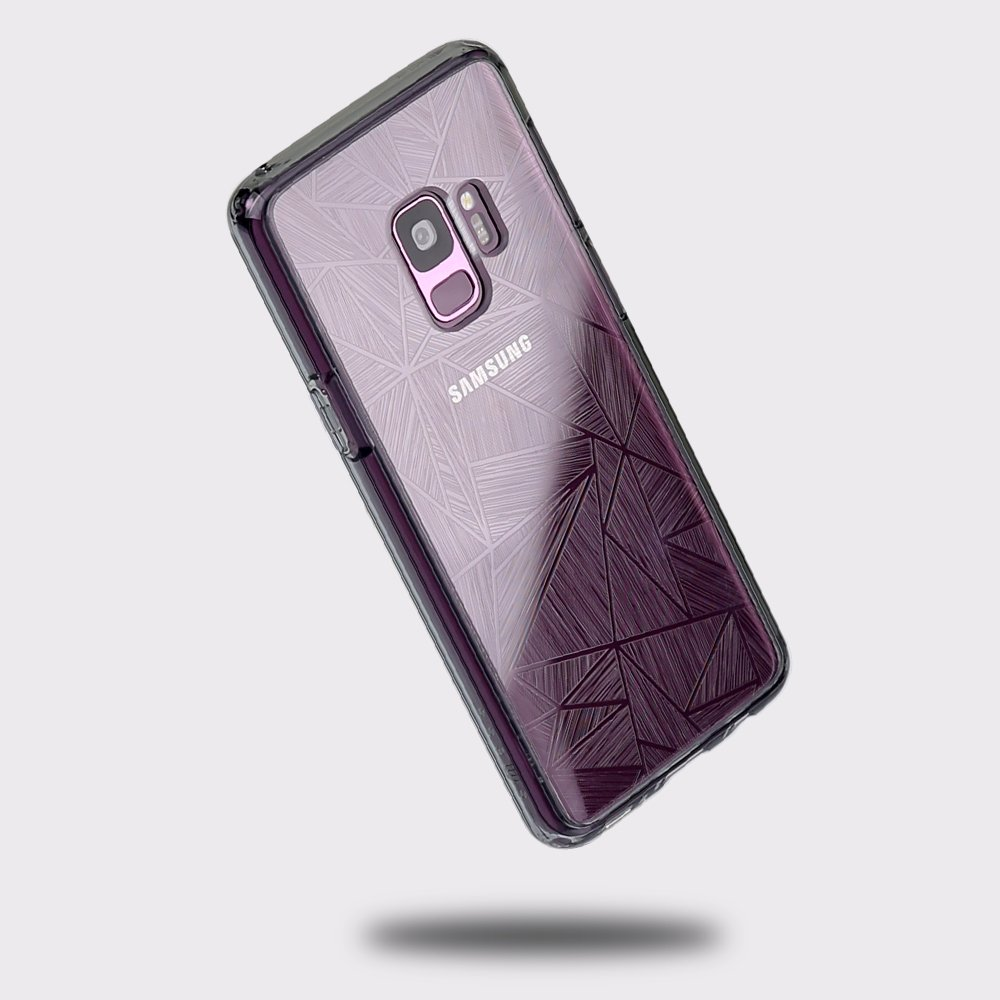 Samsung Galaxy S9 case, SMASS Secret Shine Slim Clear bumper Shock-Absorption Cover Ultra Drop Protection Anti Scratch Clear Back for Galaxy S9 - GRAY & CROSS by @hand (Image #1)