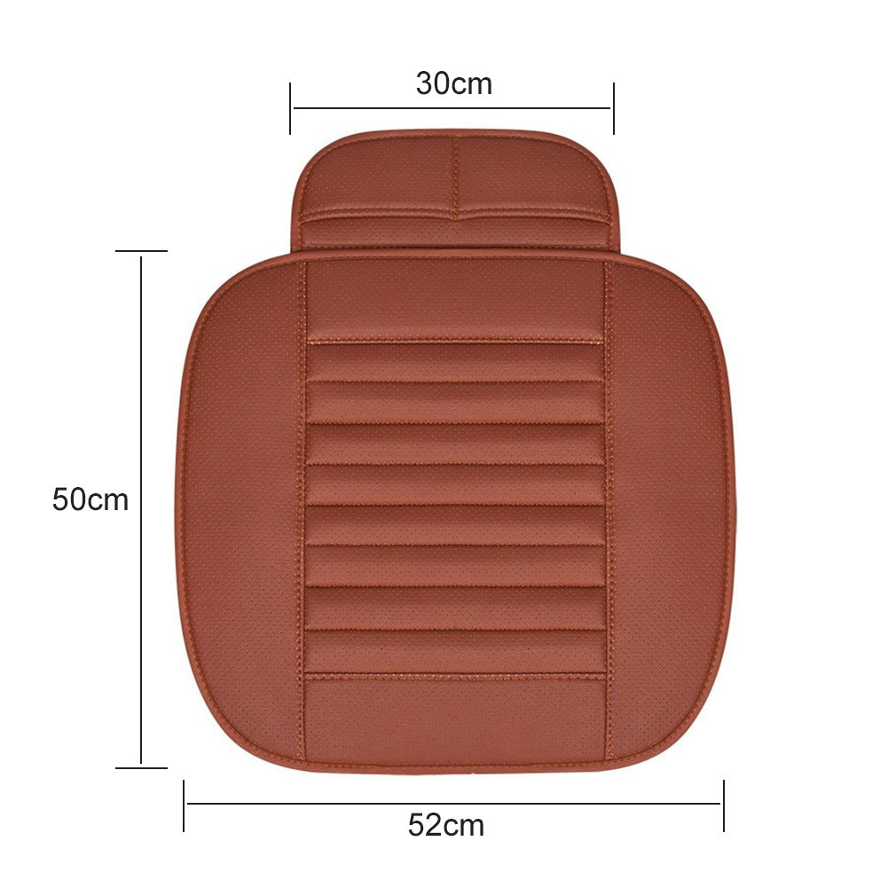 Gray Black ele ELEOPTION Car Seat Cushion Car Seat Pads Universal Bamboo Charcoal Car Cushion Four Season Comfortable and Breathable Protective for Office Chair Car Seat