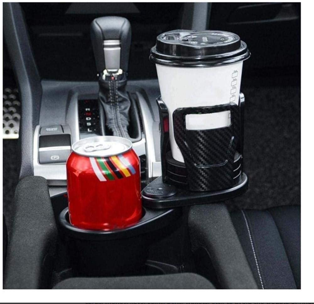 Car Center Console Dual Cup Holder Expander f/ür Getr/änke Carbonfiberblack shanshan Car Cup Holder Expander Adapter mit Verstellbarer Basis