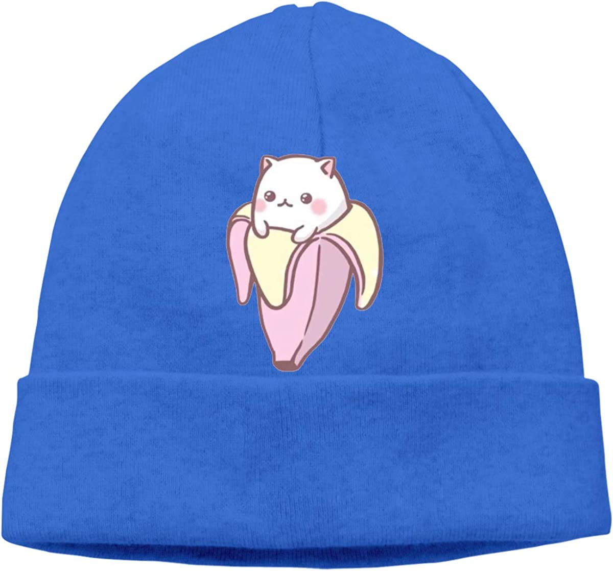 Save The Chubby Unicorns Unisex Cuffed Plain Skull Knitted Hat Beanie Cap Men Women Blue