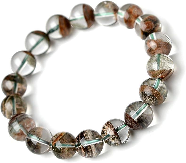 Phantom Quartz Bracelet 9mm Colorful Phantom Quartz Bracelet Moving Past Blockages Emotional healing Healing Bracelet