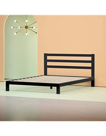 0c0e155ee9d9 Zinus Arnav Modern Studio 10 Inch Platform 2000H Metal Bed Frame   Mattress  Foundation   Wooden
