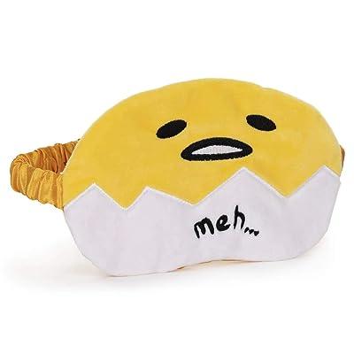 "GUND Sanrio Gudetama The Lazy Egg Sleep Mask Soft Plush, Yellow and White, 4"": Toys & Games"
