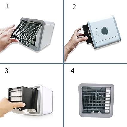 Filtro de Recambio para Aire Acondicionado Portátil, Compatible con Fitfirst, Comlife, GESUNDHOME Mini Acondicionado USB Climatizador Portátil: Amazon.es: Hogar