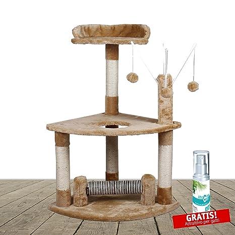 Aqpte - Árbol para gato, 90cm, con caseta y rascador