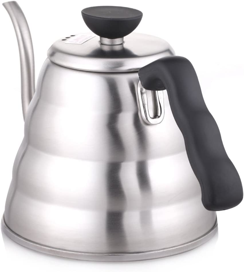 Hario V60 Buono Stainless Steel Gooseneck Coffee Kettle, Stovetop 1.2L 1200 mL