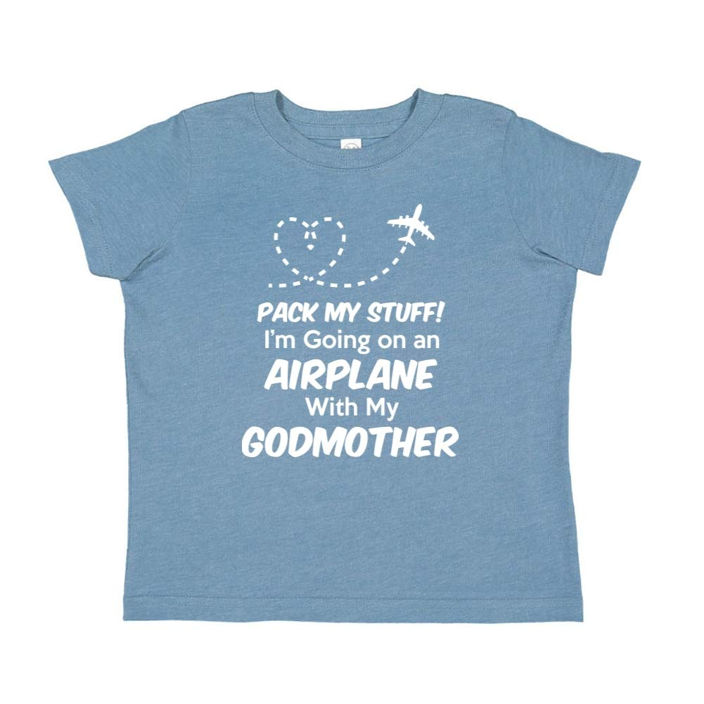 Im Going On an Airplane with My Godmother Toddler//Kids Short Sleeve T-Shirt Pack My Stuff