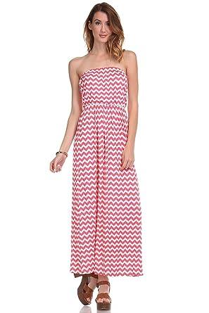 Chevron Maxi Tube Dress