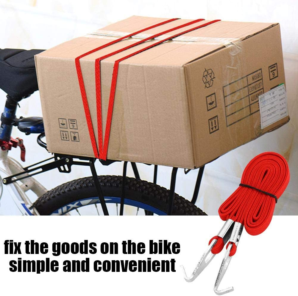 Bicycle Luggage Strap Elastic Motorcycle Bike Luggage Rack Fixed Strap Rope with Hooks for Outdoor Hanging