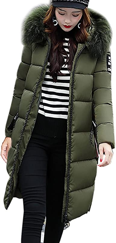 Womens Winter Clothing Long Slim Fit Over Knee Fur Top Jacket Coat Warm Outdoor