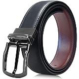BECASO(ベカソ) ベルト メンズ 本革 リバーシブル(黒色&茶色) 穴あけポンチ付き ビジネス カジュアル 紳士 おおきいサイズ対応可能