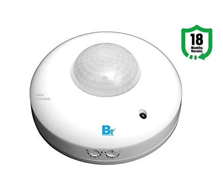 Blackt electrotech 360 degree pir motion sensor with light sensor blackt electrotech 360 degree pir motion sensor with light sensor ceiling mounted mozeypictures Choice Image