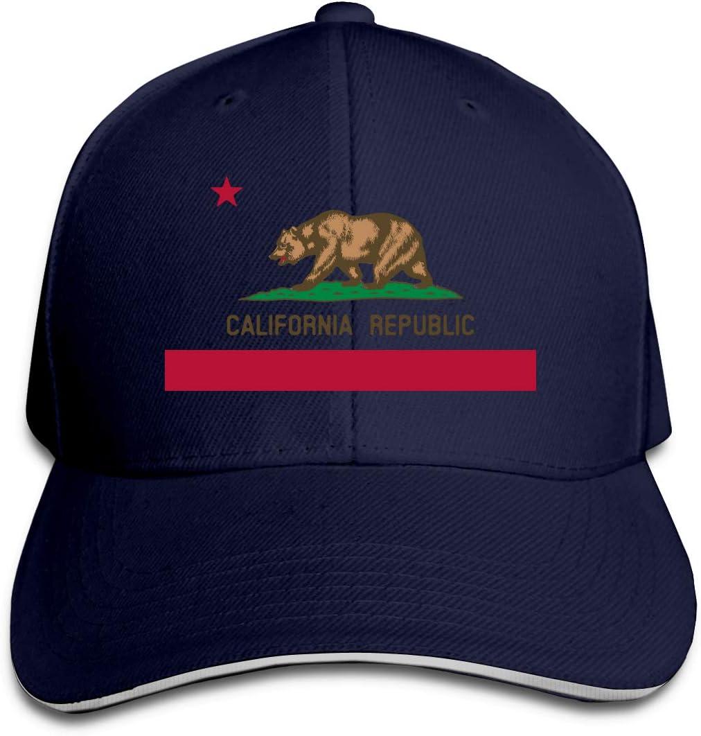 California Bear Republic 3 Unisex Baseball Cap Cooling Fishing Caps Adjustable Trucker Caps Dad-Hat
