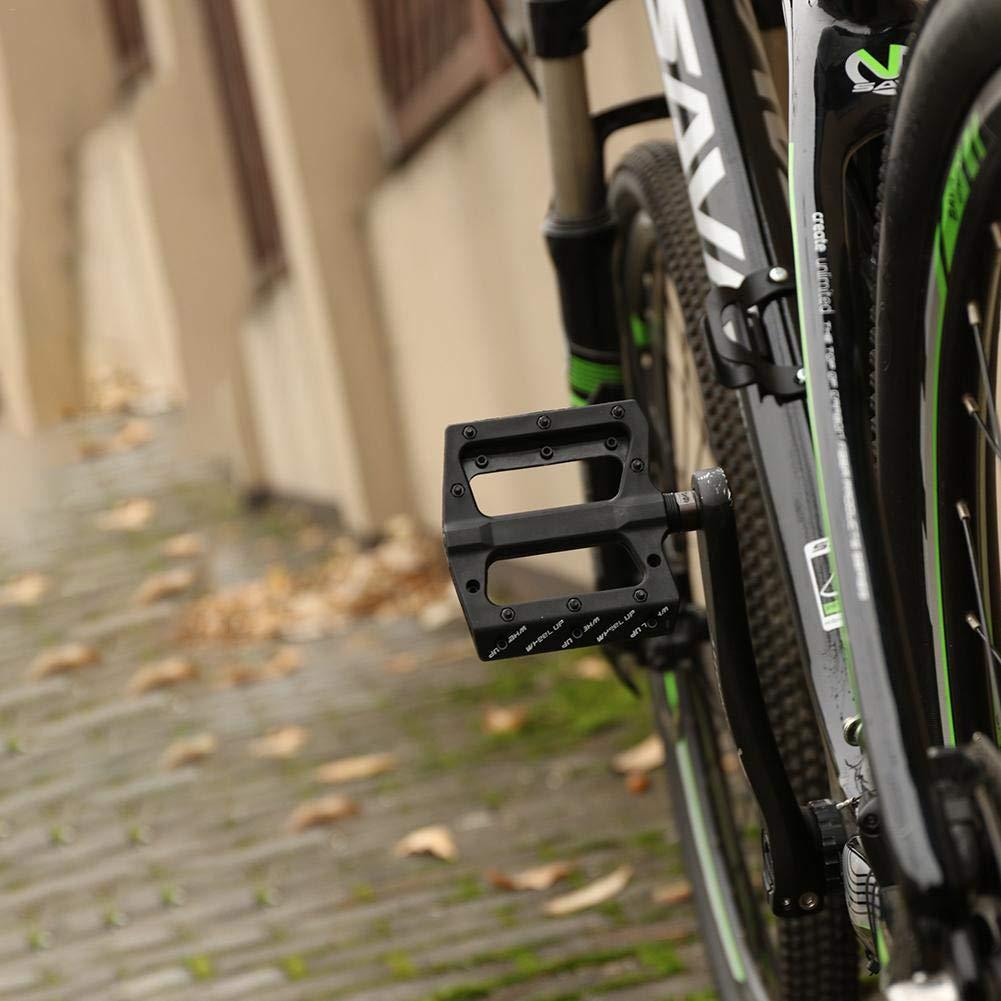 Pepional P/édale V/élo VTT BMX P/édales Alliage dAluminium Accessoires de v/élo P/édales Plates en Alliage Aluminium /à Double Roulement Scell/é Cyclisme Racing 1 Paire