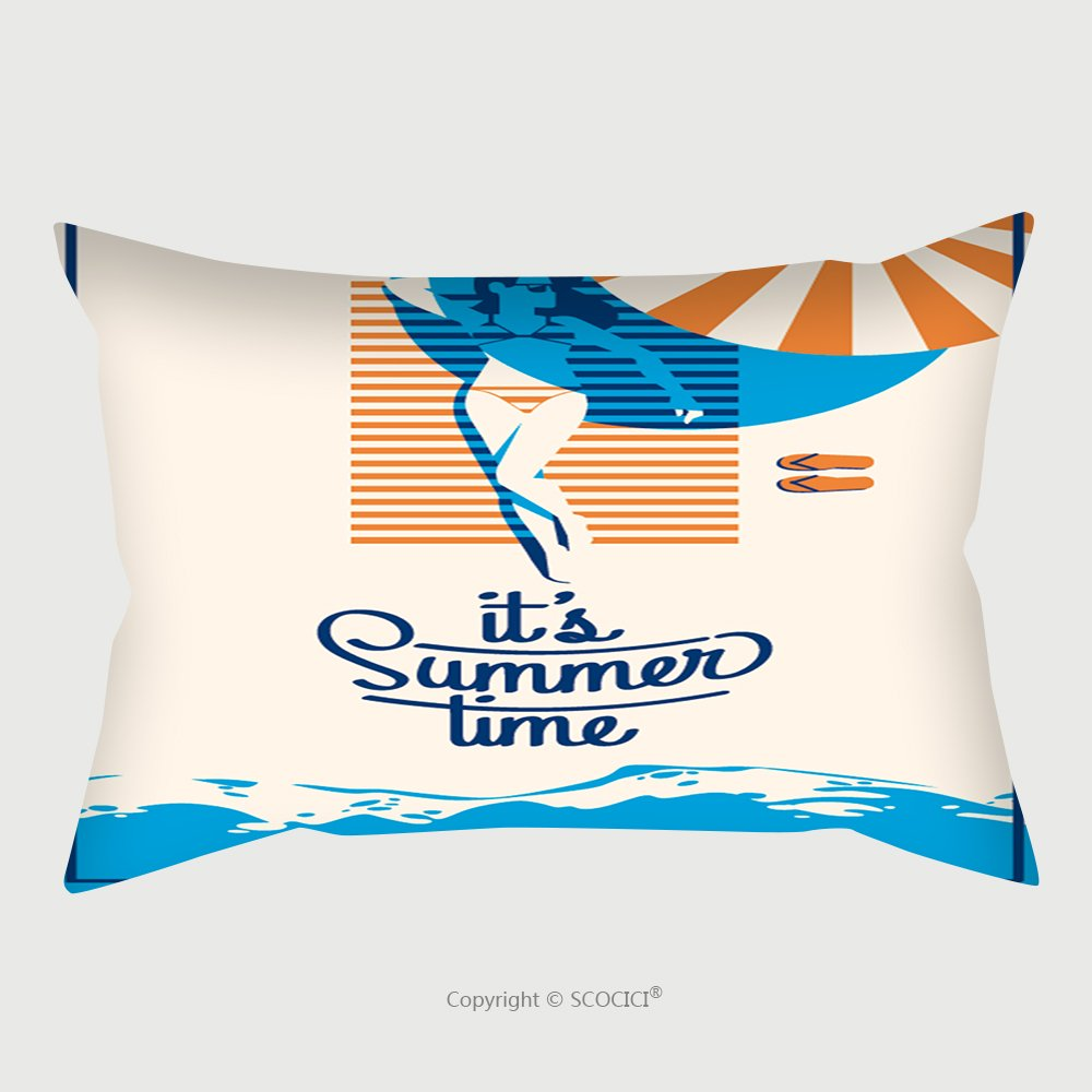 Custom Satin Pillowcase Protector Summer Holiday And Summer Camp Poster 606934133 Pillow Case Covers Decorative