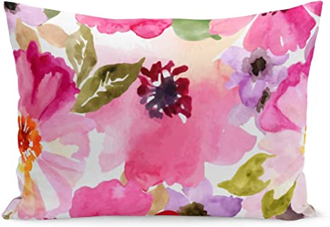 Amazon Com Aikul Throw Pillow Cover Girly Watercolor Flowers Pink Fuchsia Romantic Floral Beautiful Lovely Pillow Case Cushion Cover Lumbar Pillowcase Decoration For Couch Sofa Bed Car 20 X 26 Inchs Home Kitchen