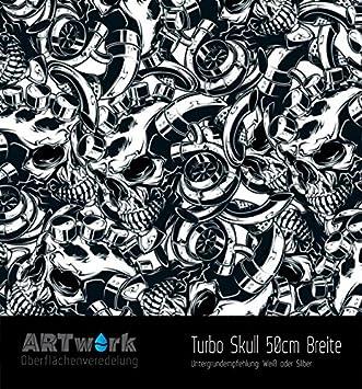 Wassertransferdruck Folie WTD Starterset 1m Turbo Skull Aktivator