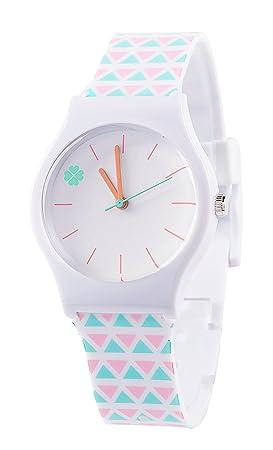 Tonnier relojes banda de resina Super suave estudiante relojes para los adolescentes chicas jóvenes Lucky Hierba: Amazon.es: Deportes y aire libre