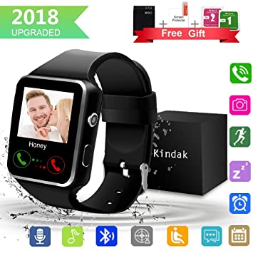 ... Reloj inteligente con Sim Tarjeta Camara Whatsapp, Bluetooth Tactil Telefono Smart Watch Sport Fitness Tracker Smartwatches Compatible Android IOS ...