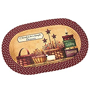 Primitive Country Charm Braided Rug, Brown