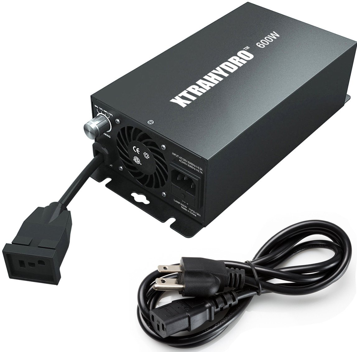 600W Dimmable Electronic Ballast, XTRAHYDRO Hydroponic PUF 600 Watt Digital Ballast for Grow Light, HPS MH Supported