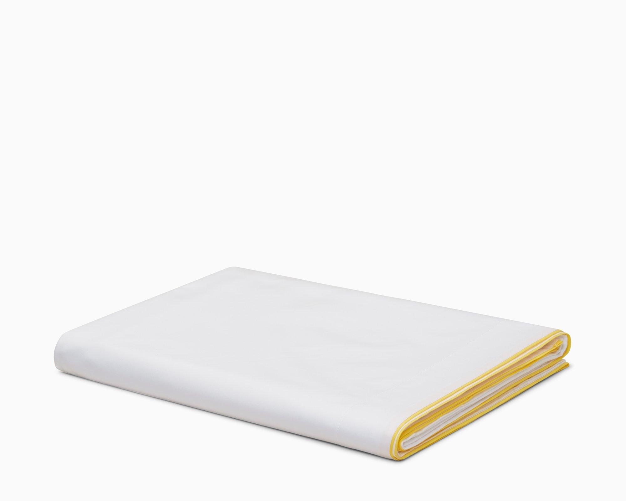 Calvin Klein Home Series 01, Queen Flat Sheet, Yellow